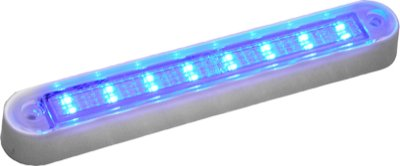Peterson M388Wb Great White Led Interior Exterior Dome, Utility Accent Light Blue With White B