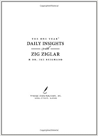 The One Year Daily Insights with Zig Ziglar (One Year Signature Line)