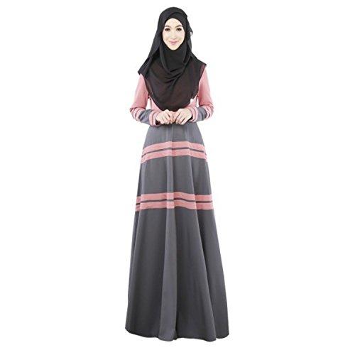 Aro Lora Women's Islamic Kaftan Abaya Muslim Long Maxi Dress Large Pink
