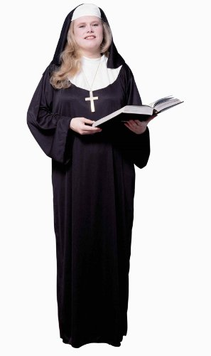 Forum Novelties Women's Plus-Size Plus Size Adult Nun Costume
