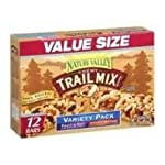 NATURE VALLEY GRANOLA BARS, CHEWY TRAIL MIX CEREAL, 1.2OZ BAR, 16 BARS/BOX