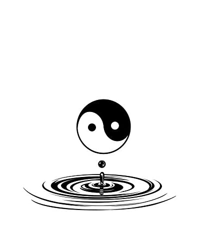 Ambiance-sticker Vinile Decorativo Yin Yang And Water Drop Wall Decal