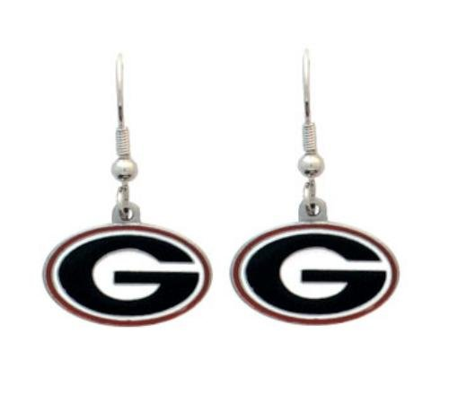NCAA Georgia Bulldogs Dangle Earrings (Uga Bulldogs compare prices)