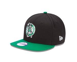 NBA Boston Celtics 9Fifty Snapback Cap (Black Green, One Size Fits All) by New Era
