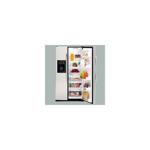 Stainless Steel Energy Star Profile 25.6 cu. ft. Side By Side Refrigerator with LightTouch Tall Ice Dispenser