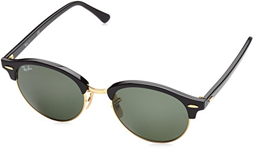 ray-ban-clubround-black-frame-green-lenses-51mm-non-polarized