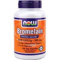 Now Foods Bromelain, 120 Vcaps 2400GDU/500 mg (Pack of 2)