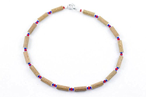 Healing Hazel Hazelwood Children Necklace, Red/Navy Blue