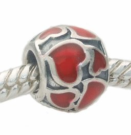 ONE GENUINE SOLID STERLING SILVER CIRCULAR RED