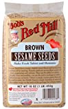 One 16 oz Bob's Red Mill Brown Sesame Seeds