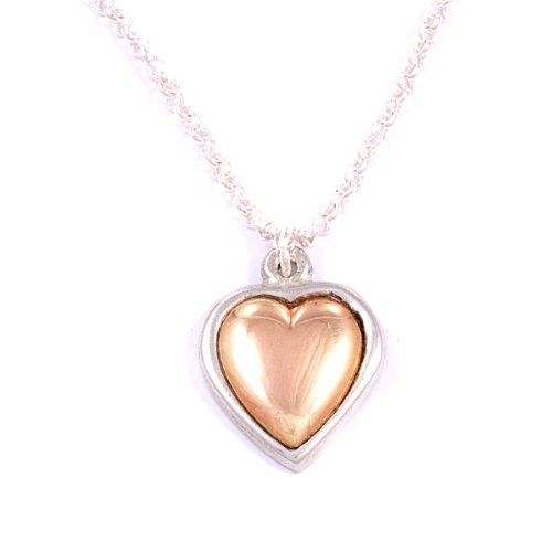 Copper Heart pewter pendant by St. Justin PN750