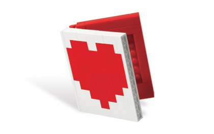 LEGO LOVE Heart Book Mini Picture Frame (Bagged)