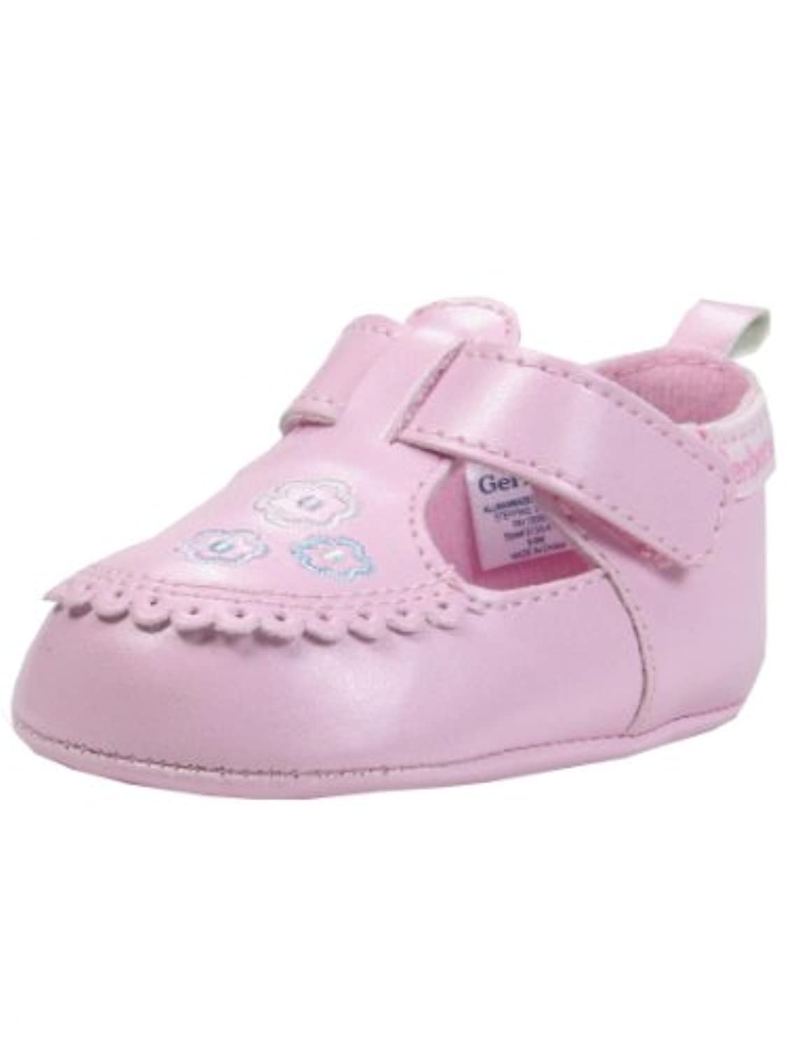 baby girl soft sole tstrap crib shoes by gerber pink