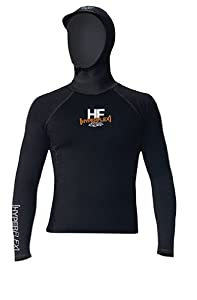 Hyperflex Wetsuits Mens Polyolefin L S Hooded Rash Guard by Hyperflex