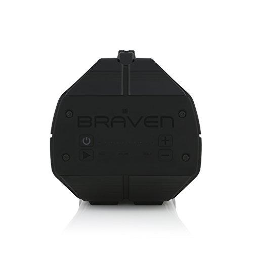 BRAVEN BRV-XXL Large Portable Wireless Bluetooth Speaker [Waterproof][Outdoor] Built-In 15,600mAh Power Bank USB Charger - Black/Titanium