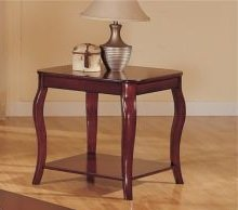 Image of 1-pc Beautiful end Table in Dark Cherry Finish PDSF60154 (B004RQUQ3E)
