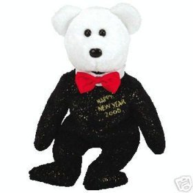 1 X TY Beanie Baby - COUNTDOWN the Bear (Internet Exclusive) (misc version) - 1