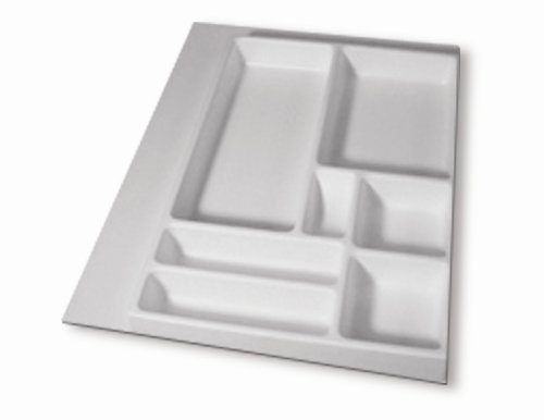 16'' X 21'' Junk Drawer Organizer, White