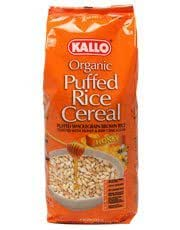 Gluten free puffed rice cereal