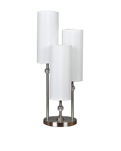 Greenwich Lighting Bolivar 3-Arm Table Lamp, Brushed Nickel As You See