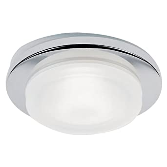 Chrome IP65 bathroom downlighter suitable for bathroom zone 1