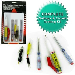 4 pc Electrical Circuit and Voltage Testing Kit. Product Category: Hardware > Hand Tools