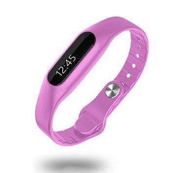 DESALEN Wireless Activity + Sleep Wristband Touch Operated Bluetooth Waterproof Smart Watch Bracelet Fitness Tracker(Purple)