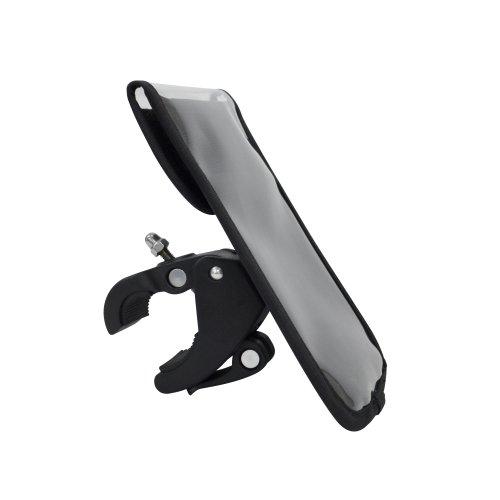 オウルテック iPhone6等各種スマートフォン用 出し入れ簡単! フラップポケット型自転車専用スマートフォンケース ブラック OWL-BASH02(BK) ハンドル径15-26mm対応