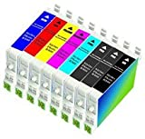 Set of 8 Compatible Epson Ink Cartridge for Stylus Photo R2000, T1590, T1591, T1592, T1593, T1594, T1597, T1598 and T1599