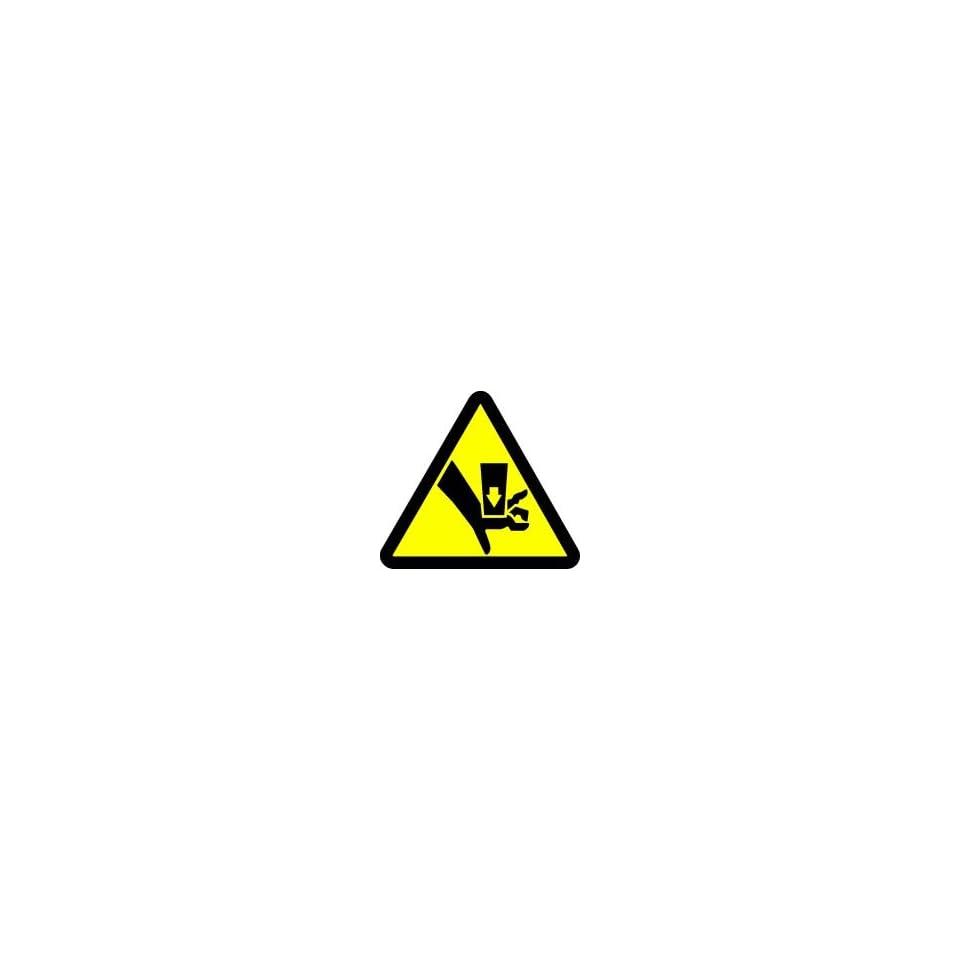WARNING Labels CRUSH HAZARD 2 Adhesive Dura Vinyl