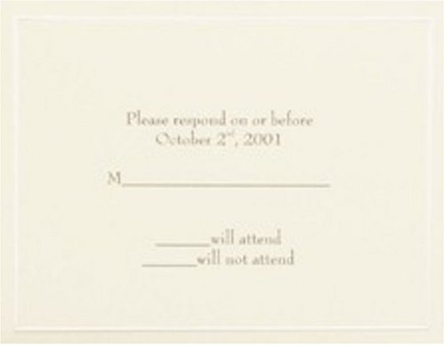 Ivory Pearl Response Cards Wedding Invitations