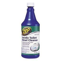 Zep Commercial - 4 Pack - Acidic Toilet Bowl Cleaner 32 Oz Bottle \