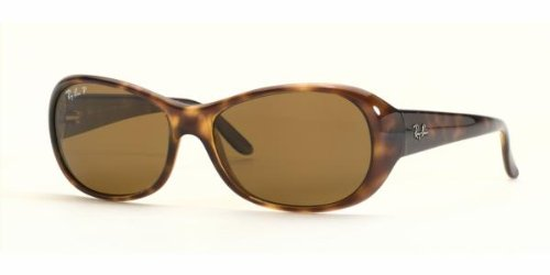 Ray Ban RB4061 Sunglasses-642/57 Tortoise (Brown Polarized Lens)-55mm
