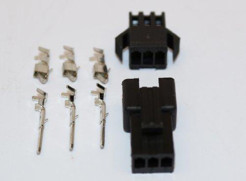 JST/SM-R/P 3 Pin Stecker/Buchse Stecksystem inkl. Buchsen/Kontakt, M und F, 5 Pärchen/Pckg