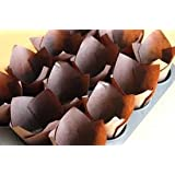 100 Chocolate Brown Tulip Muffin Cupcake Cases