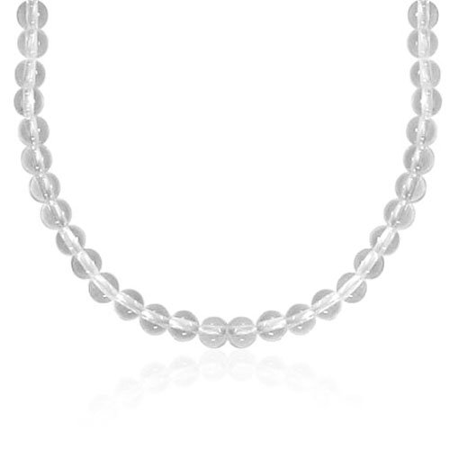 6mm Round Crystal Bead Necklace, 22+2