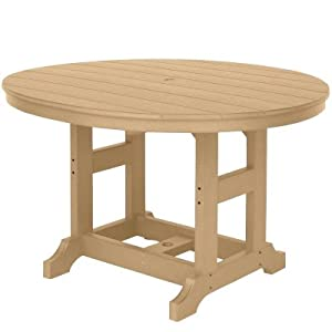 Berlin Gardens Dining Height - Garden Classic Daisy Table - Weatherwood on Black