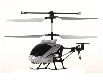 3-channel Alloy Infrared RC Helicopter with Gyroscope Camera (Silver) + Worldwide free shiping