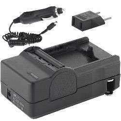 Sony DCR-SX85 Camcorder Battery Charger (110/220v with Car & EU adapters) - Replacement Charger for Sony NP-FP, FH, & FV Series Batteries