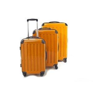 3er Kofferset Hartschale Trolleys orange-Hochglanz