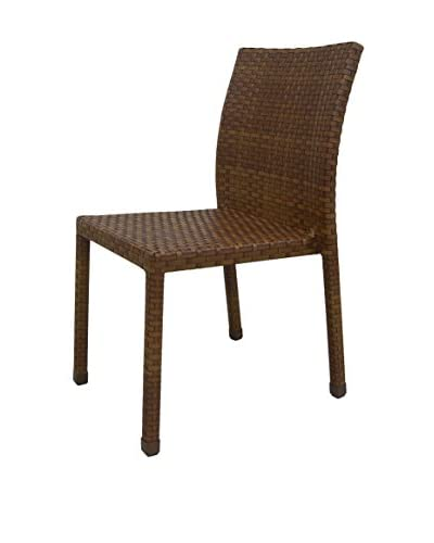 Panama Jack St Barths Stackable Side Chair, Brown