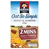 Quaker Oats Oat So Simple Honey & Almond Porridge 10 X 33G
