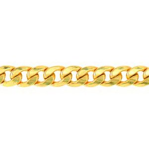 14K Solid Yellow Gold Miami Cuban Lite Chain Necklace 6.7mm thick 22 Inches