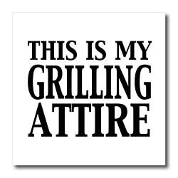 EvaDane  Funny Quotes  This is my grilling attire. BBQ. Grill. Cookout.  Iron on Heat Transfers  6x6 Iron on Heat Transfer for White Material Picture