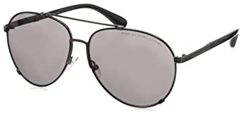 Marc by Marc Jacobs MMJ301S Aviator Sunglasses,Black Ruthen Frame/Gray Lens,One Size