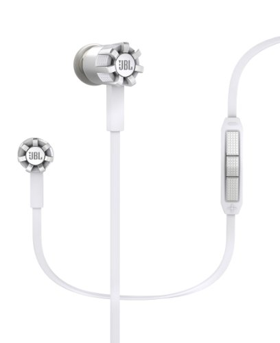 JBL Synchros S200 Premium In-Ear Stereo Headphones with Apple 3-Button Remote, White
