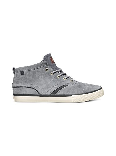Quiksilver Men's Heyden FG Skate Shoe, Grey/Grey/White, 9 M US