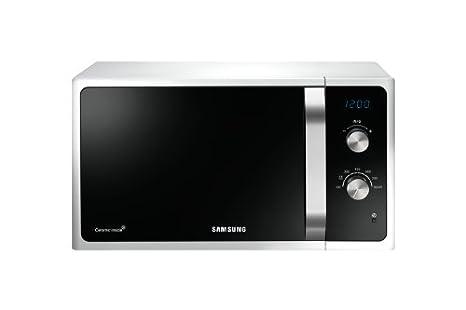 Samsung MG23F301TAS Micro-ondes 23 L Noir, Blanc