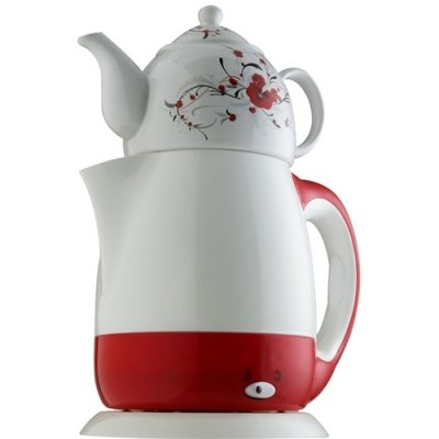 Maress Tea Set and Cordless Kettle Teapot – Red Best Deals