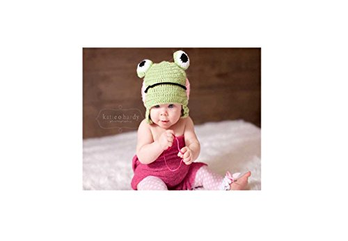 Designer Costume boutique toddler baby PoshNPretty Crochet Lil monkey Girl hat